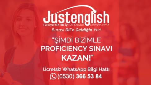 Just English Proficiency Kursu Bahcesehir Universitesi