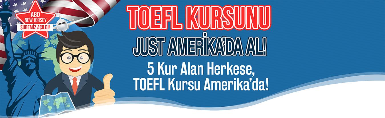 Toefl Kursunu Just ABD de Al!
